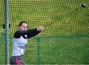 07 April 2019; Nikita McGrath of Borrisokane A.C., Co. Tipperary, competing in the Women's Hammer (3kg) during the AAI National Spring Throws at AIT in Athlone, Co Westmeath.  Photo by Harry Murphy/Sportsfile