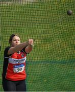 7 April 2019; Aine Marie McBride of Lifford Strabane A.C., Co. Donegal, competing in the Women's Hammer (3kg) during the AAI National Spring Throws at AIT in Athlone, Co Westmeath.  Photo by Harry Murphy/Sportsfile