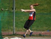 7 April 2019; Adrienne Gallen of Lifford Strabane A.C., Co. Donegal, competing in the Women's Hammer (3kg) during the AAI National Spring Throws at AIT in Athlone, Co Westmeath.  Photo by Harry Murphy/Sportsfile