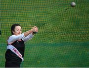 7 April 2019; Michaela Walsh of Swinford A.C., Co. Mayo, competing in the Women's Hammer (4kg) during the AAI National Spring Throws at AIT in Athlone, Co Westmeath.  Photo by Harry Murphy/Sportsfile