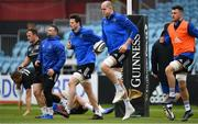 12 April 2019; Leinster players, from left, Ed Byrne, Dave Kearney, Jack Dunne, Devin Toner and Will Connors during the Leinster Rugby captain's run at the RDS Arena in Dublin. Photo by Ramsey Cardy/Sportsfile