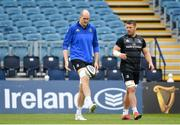 12 April 2019; Devin Toner, left, and Seán O'Brien during the Leinster Rugby captain's run at the RDS Arena in Dublin. Photo by Ramsey Cardy/Sportsfile