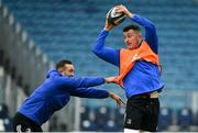 12 April 2019; Will Connors, right, and Dave Kearney during the Leinster Rugby captain's run at the RDS Arena in Dublin. Photo by Ramsey Cardy/Sportsfile