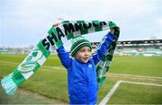 12 April 2019; Shamrock Rovers supporter Jackson Cahill, nephew of Jack Byrne, ahead of the SSE Airtricity League Premier Division match between Shamrock Rovers and Waterford at Tallaght Stadium in Dublin. Photo by Ramsey Cardy/Sportsfile