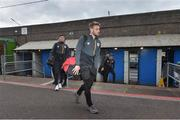 12 April 2019; St Patrick's Athletic player Conor Clifford arrives before the SSE Airtricity League Premier Division match between Cork City and St Patrick's Athletic at Turners Cross in Cork. Photo by Matt Browne / Sportsfile.