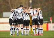 12 April 2019; Dundalk players huddle ahead of the SSE Airtricity League Premier Division match between Sligo Rovers and Dundalk at The Showgrounds in Sligo. Photo by Eóin Noonan/Sportsfile
