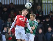 12 April 2019; Jamie Lennon of St Patrick's Athletic in action against Conor McCormack of Cork City during the SSE Airtricity League Premier Division match between Cork City and St Patrick's Athletic at Turners Cross in Cork. Photo by Matt Browne/Sportsfile.