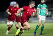 12 April 2019; Dan Goggin of Munster  runs to score try during the Guinness PRO14 Round 20 game between Benetton and Munster at Stadio di Monigo in Treviso, Italy. Photo by Roberto Bregani/Sportsfile