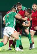 12 April 2019; Dan Goggin of Munster is tackled by Nicola Quaglio of Benetton during the Guinness PRO14 Round 20 game between Benetton and Munster at Stadio di Monigo in Treviso, Italy. Photo by Roberto Bregani/Sportsfile