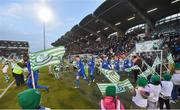 12 April 2019; Both teams walk out ahead of the SSE Airtricity League Premier Division match between Shamrock Rovers and Waterford at Tallaght Stadium in Dublin. Photo by Ramsey Cardy/Sportsfile