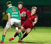 12 April 2019; Mike Haley of Munster takes on Federico Ruzza of Benetton Treviso during the Guinness PRO14 Round 20 game between Benetton Treviso and Munster Rugby at Stadio di Monigo in Treviso, Italy. Photo by Roberto Bregani/Sportsfile