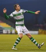 12 April 2019; Sean Kavanagh of Shamrock Rovers celebrates after scoring his side's first goal of the game during the SSE Airtricity League Premier Division match between Shamrock Rovers and Waterford at Tallaght Stadium in Dublin. Photo by Ramsey Cardy/Sportsfile