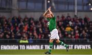 12 April 2019; Ronnie Whelan of Republic of Ireland XI acknowledges the crowd after being substituted during the Sean Cox Fundraiser match between the Republic of Ireland XI and Liverpool FC Legends at the Aviva Stadium in Dublin. Photo by Sam Barnes/Sportsfile