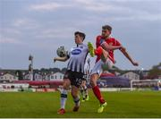 12 April 2019; Lewis Banks of Sligo Rovers in action against Jamie McGrath of Dundalk during the SSE Airtricity League Premier Division match between Sligo Rovers and Dundalk at The Showgrounds in Sligo. Photo by Eóin Noonan/Sportsfile