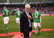 12 April 2019; Republic of Ireland manager Mick McCarthy prior to the Sean Cox Fundraiser match between the Republic of Ireland XI and Liverpool FC Legends at the Aviva Stadium in Dublin. Photo by Stephen McCarthy/Sportsfile