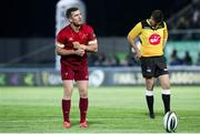 12 April 2019; JJ Hanrahan of Munster  converts a penalty during the Guinness PRO14 Round 20 game between Benetton Treviso and Munster Rugby at Stadio di Monigo in Treviso, Italy. Photo by Roberto Bregani/Sportsfile