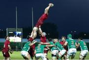 12 April 2019; Jack O'Donoghue of Munster wins a lineout during the Guinness PRO14 Round 20 game between Benetton Treviso and Munster Rugby at Stadio di Monigo in Treviso, Italy. Photo by Roberto Bregani/Sportsfile