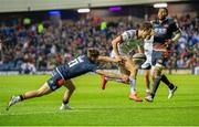 12 April 2019; Billy Burns of Ulster scores his sides fourth try during the Guinness PRO14 Round 20 match between Edinburgh and Ulster at BT Murrayfield in Edinburgh, Scotland. Photo by Ross Parker/Sportsfile