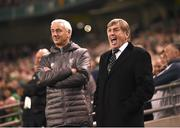 12 April 2019; Liverpool FC Legends manager Kenny Dalglish and Ian Rush during the Sean Cox Fundraiser match between the Republic of Ireland XI and Liverpool FC Legends at the Aviva Stadium in Dublin. Photo by Stephen McCarthy/Sportsfile