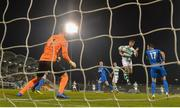 12 April 2019; Ronan Finn of Shamrock Rovers heads at goal during the SSE Airtricity League Premier Division match between Shamrock Rovers and Waterford at Tallaght Stadium in Dublin. Photo by Ramsey Cardy/Sportsfile