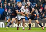 12 April 2019; Rob Herring of Ulster is tackled by Duhan van der Merwe of Edinburgh during the Guinness PRO14 Round 20 match between Edinburgh and Ulster at BT Murrayfield in Edinburgh, Scotland. Photo by Ross Parker/Sportsfile