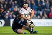 12 April 2019; Marcell Coetzee of Ulster is tackled by WP Nel of Edinburgh during the Guinness PRO14 Round 20 match between Edinburgh and Ulster at BT Murrayfield in Edinburgh, Scotland. Photo by Ross Parker/Sportsfile