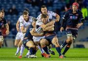 12 April 2019; Iain Henderson of Ulster is tackled by Hamish Watson (left) and Ross Ford of Edinburgh during the Guinness PRO14 Round 20 match between Edinburgh and Ulster at BT Murrayfield in Edinburgh, Scotland. Photo by Ross Parker/Sportsfile