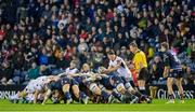 12 April 2019; John Cooney of Ulster puts the ball into the scrum during the Guinness PRO14 Round 20 match between Edinburgh and Ulster at BT Murrayfield in Edinburgh, Scotland. Photo by Ross Parker/Sportsfile