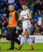 12 April 2019; Jacob Stockdale of Ulster goes off with an injruy during the Guinness PRO14 Round 20 match between Edinburgh and Ulster at BT Murrayfield in Edinburgh, Scotland. Photo by Ross Parker/Sportsfile