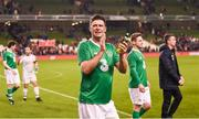 12 April 2019; Niall Quinn of Republic of Ireland XI following the Sean Cox Fundraiser match between the Republic of Ireland XI and Liverpool FC Legends at the Aviva Stadium in Dublin. Photo by Stephen McCarthy/Sportsfile