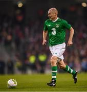 12 April 2019; Kenny Cunningham of Republic of Ireland XI during the Sean Cox Fundraiser match between the Republic of Ireland XI and Liverpool FC Legends at the Aviva Stadium in Dublin. Photo by Stephen McCarthy/Sportsfile
