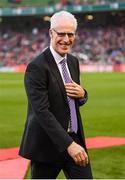 12 April 2019; Republic of Ireland XI manager Mick McCarthy during the Sean Cox Fundraiser match between the Republic of Ireland XI and Liverpool FC Legends at the Aviva Stadium in Dublin. Photo by Stephen McCarthy/Sportsfile