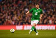 12 April 2019; Ian Harte of Republic of Ireland XI during the Sean Cox Fundraiser match between the Republic of Ireland XI and Liverpool FC Legends at the Aviva Stadium in Dublin. Photo by Stephen McCarthy/Sportsfile