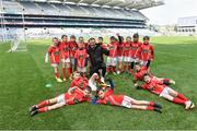 13 April 2019; Wexford player Matthew O'Hanlon with  Éire Óg GAA Co Carlow pictured at the Littlewoods Ireland Go Games Provincial Days in Croke Park. This year over 6,000 boys and girls aged between six and twelve represented their clubs in a series of mini blitzes and just like their heroes got to play in Croke Park. Photo by Matt Browne/Sportsfile
