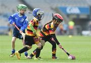 13 April 2019; Realtin Ni Mhidheach Nic Giolla Chriosta age 7 from Ardclough GAA Club Co Kildare in action at the Littlewoods Ireland Go Games Provincial Days in Croke Park. This year over 6,000 boys and girls aged between six and twelve represented their clubs in a series of mini blitzes and just like their heroes got to play in Croke Park. Photo by Matt Browne/Sportsfile