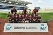 13 April 2019; Na Fianna GAA Club Co Offaly pictured at the Littlewoods Ireland Go Games Provincial Days in Croke Park. This year over 6,000 boys and girls aged between six and twelve represented their clubs in a series of mini blitzes and just like their heroes got to play in Croke Park. Photo by Matt Browne/Sportsfile