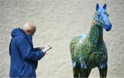 13 April 2019; A racegoer studies the form prior to racing at Naas Racecourse in Naas, Co Kildare. Photo by David Fitzgerald/Sportsfile