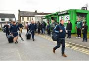 13 April 2019; Cardiff Blues head coach John Mulvihill, right, arrives with his team prior to the Guinness PRO14 Round 20 match between Connacht and Cardiff Blues at The Sportsground in Galway. Photo by Seb Daly/Sportsfile