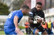 13 April 2019; Niko Matawalu of Glasgow Warriors in action against Rob Kearney of Leinster during the Guinness PRO14 Round 20 match between Leinster and Glasgow Warriors at the RDS Arena in Dublin. Photo by Ben McShane/Sportsfile