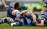 13 April 2019; Bundee Aki of Connacht in action against Rory Thornton of Cardiff Blues during the Guinness PRO14 Round 20 match between Connacht and Cardiff Blues at The Sportsground in Galway. Photo by Piaras Ó Mídheach/Sportsfile