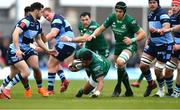 13 April 2019; Bundee Aki of Connacht during the Guinness PRO14 Round 20 match between Connacht and Cardiff Blues at The Sportsground in Galway. Photo by Piaras Ó Mídheach/Sportsfile