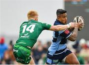 13 April 2019; Rey Lee-Lo of Cardiff Blues in action against Darragh Leader of Connacht during the Guinness PRO14 Round 20 match between Connacht and Cardiff Blues at The Sportsground in Galway. Photo by Seb Daly/Sportsfile