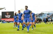 13 April 2019; Caelan Doris and his Leinster team-mates following the Guinness PRO14 Round 20 match between Leinster and Glasgow Warriors at the RDS Arena in Dublin. Photo by Ramsey Cardy/Sportsfile