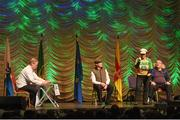 13 April 2019; Leinster team Paul Delahunty, Noel Shannon, Shane Shannon, Elaine Breslin, Tom Malone, Petronella Curran and Michelle O'Hara from Milltown, Kildare, competing in the Léiriú catagory during the Scór Sinsir All Ireland Finals at the TF Royal hotel and theatre, Old Westport road in Castlebar, Co Mayo. Photo by Eóin Noonan/Sportsfile