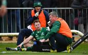 13 April 2019; Kieran Marmion of Connacht is tended to by medics before leaving the field for a head injury assessment during the Guinness PRO14 Round 20 match between Connacht and Cardiff Blues at The Sportsground in Galway. Photo by Piaras Ó Mídheach/Sportsfile