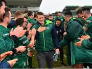 13 April 2019; Eoin Griffin is congratulated by team-mates as he leaves the field following the Guinness PRO14 Round 20 match between Connacht and Cardiff Blues at The Sportsground in Galway. Photo by Seb Daly/Sportsfile