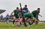 13 April 2019; Matt Healy of Connacht goes over to score his side's fourth try during the Guinness PRO14 Round 20 match between Connacht and Cardiff Blues at The Sportsground in Galway. Photo by Seb Daly/Sportsfile