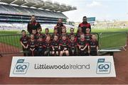 13 April 2019; Na Fianna GAA Club, Co. Offaly pictured at the Littlewoods Ireland Go Games Provincial Days in Croke Park. This year over 6,000 boys and girls aged between six and twelve represented their clubs in a series of mini blitzes and just like their heroes got to play in Croke Park. Photo by Matt Browne/Sportsfile