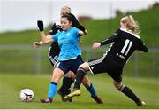 13 April 2019; Niamh Murphy of DLR Waves in action against Nathalie O'Brien, behind, and Eabha O'Mahony of Cork City during the Só Hotels Women's National League match between DLR Waves and Cork City FC at Jackson Park in Kilternan, Dublin. Photo by Ben McShane/Sportsfile