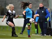 13 April 2019; Niamh Murphy of DLR Waves in action against Nathalie O'Brien of Cork City during the Só Hotels Women's National League match between DLR Waves and Cork City FC at Jackson Park in Kilternan, Dublin. Photo by Ben McShane/Sportsfile